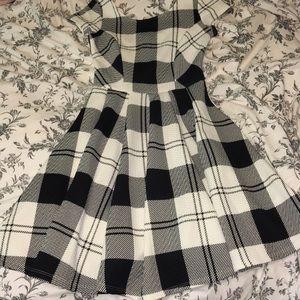 Lulu's dress black and white plaid